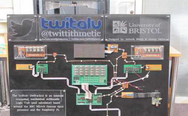 a raspberry pi powered twitter connected mechanical calculator